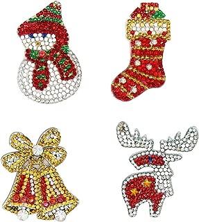 Christmas Diamond Painting Keyring Decor, Special Shaped Animals Diamond Painting Ornaments Pendants, Small Diamond Art for Kids Adult and Beginners (4pcs)