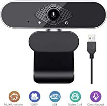 HD Webcam 1080P with Microphone, Streaming Computer Web Camera, USB Computer Camera for PC Mac Laptop Desktop Video Calling, Conferencing, Free-Driver Installation