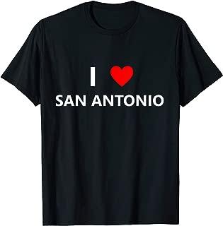 I Heart Love San Antonio Texas TX Home City Tourist Souvenir T-Shirt