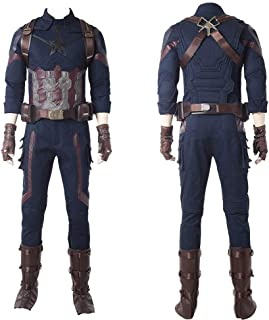 COOLNAN Avengers Infinity War Captain America Steve Rogers Cosplay Costume Adults Cosplay Costumes