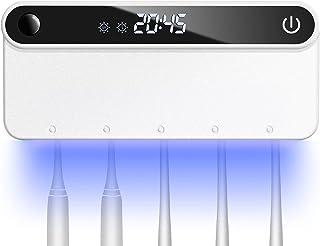 Tinosy【2021年最新版】UV C 歯ブラシ除菌 器 赤外線 人体センサー 自動安全除菌 除菌率99.99% IPX4防水 4800mA大容量バッテリー 60日間使用できます USB充電 穴開け不要 壁掛け 歯ブラシ 除菌器 日本語取扱書...