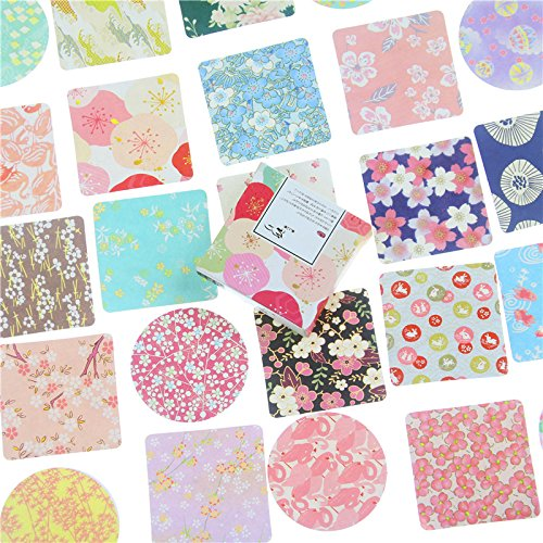 ZXXC Miss Time Colorful Flowers Paper Sticker Decoration Diy Diary Scrapbooking Sealing Sticker Stationery 40 Pcs/Box