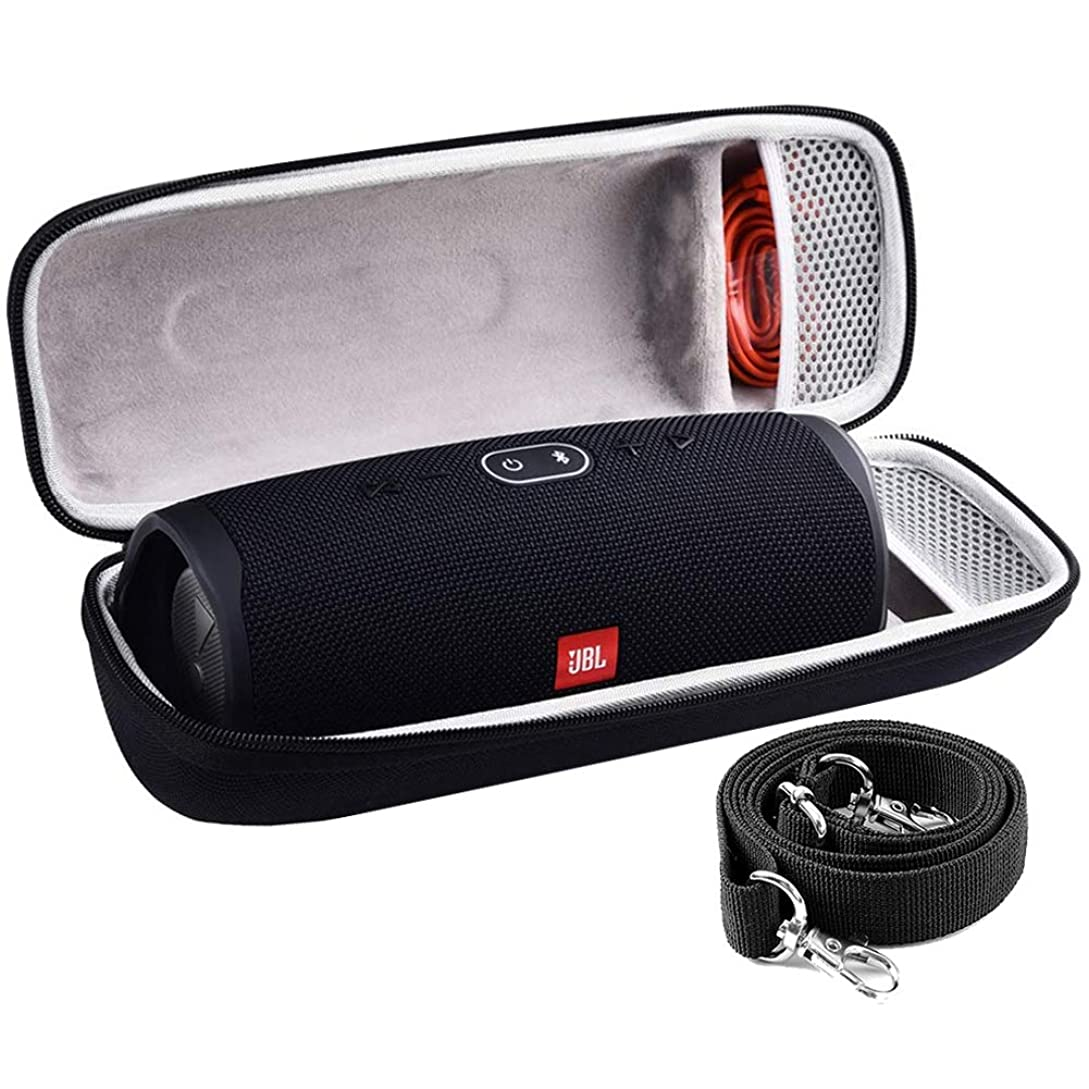 COMECASE Hard Travel Case for JBL Charge 4 Portable Waterproof Wireless Bluetooth Speaker [ Fits USB Plug and Cable & More ] kq1503547