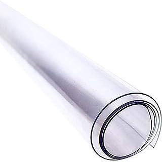 Nappe rectangulaire anti tache, Nappe de table en PVC transparent, Soft Glass, Impermeable, résistante aux rayures, à l'hu...