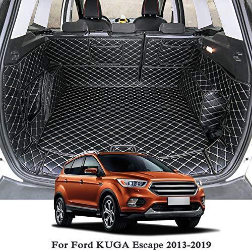 7 STÜCKE Leder Kofferraum Matte Cargo Liner Teppich Teppich Zubehör für Ford Kuga Escape 2013-2019,Redlines
