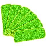 QJWGJA 6 almohadillas húmedas para limpieza de mopa para todas...