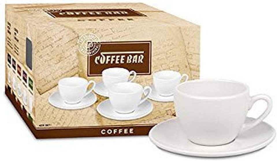 Konitz Two Giftboxed Bar Coffee Ranking TOP9 Cups Set Fort Worth Mall 4 of and Saucers Whi