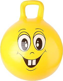 CLISPEED Hopper Ball Face Expression Jump Ball Bola de Equilibrio Hoppity Hop Bola Hinchable con Asas Bola para Niños Juguete Regalo para Niños Pequeños (Amarillo)