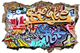 Graffiti Kunst Abstrakt Wandtattoo Wandsticker Wandaufkleber D0487 Größe 40 cm x 60 cm