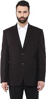 LUXURAZI Teak Brown Regular Wear Ultrasoft Tweed Blazer