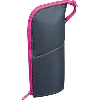 コクヨ ペンケース 筆箱 ペン立て ネオクリッツ ラージサイズ ダークグレー×ピンク F-VBF181-3