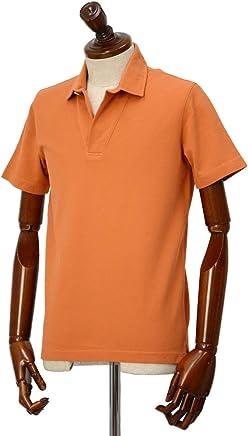 [Altea【アルテア】]スキッパーポロシャツ 1955103 66 コットン ピケ オレンジ