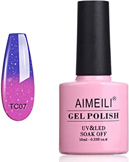 AIMEILI Soak Off UV LED Temperature Colour Changing Chameleon Gel Nail Polish - Aqua Mist (TC07) 10ML