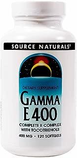 SOURCE NATURALS Gamma E Complex 400 Mg Soft Gel, 120 Count
