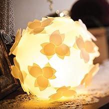 フロアライト-桜-コハルライト 組立式 和紙照明器具 8w蛍光電球(40w相当) 電灯ユニット付