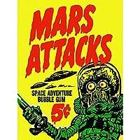 Advert Mars Attacks Bubble Gum Alien Monster Saucer Art Print Poster Wall Decor 12X16 Inch 広告エイリアンモンスターポスター壁デコ