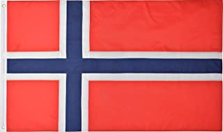Green Grove Products Norway Flag 3' x 5' Ft 210D Nylon Premium Outdoor Norwegian Flag
