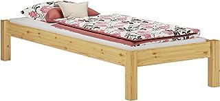 Erst-Holz Lit futon pin Massif 100x200 Design Moderne sans tête de lit y Compris sommier Matelas 60.35-10FLM