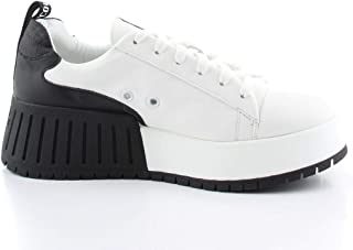 Ruco Line Luxury Fashion Womens 0393WHITEBLACK White Sneakers | Fall Winter 19