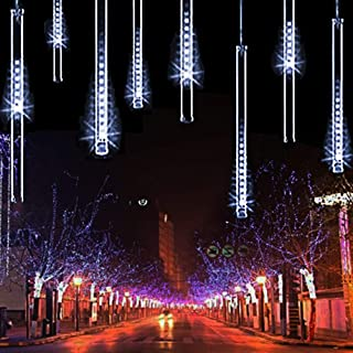 TianNorth Upgraded 30cm 8 Tubes 240 LED USB Meteor Shower Lights, 11.81 inches Ultra Bright LED Raindrop Lights, Waterproof Tubes for Christmas, Tree, Wedding, Party, Yard,etc (White 11.81inches)