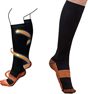 Miracle Copper Anti Fatigue Compression Socks - As Seen on TV Miracle Health Circulation Socks (1)