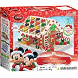 Disney Mickey And Minnie Mouse Christmas Holiday Gingerbread House Craft Kit