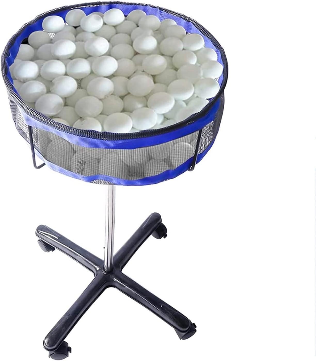 JYGHM Soporte de Almacenamiento de Bola múltiple, colector de Bolas de Ping Pong, colector de Pelota de Tenis, Titular de Pelota de Tenis Ajustable en Altura con Estuche de Malla, para Pelota de Golf