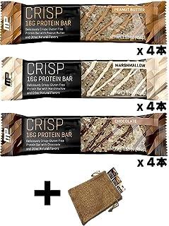 マッスルファーム クリスプ プロテインバー バラエティパック(Muscle Pharm Crisp Protein Bar 3 Flavor Variety Pack)
