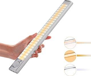 Luz de Armario,Lacyie 120 LED USB Recargable de Luz Lnalámbrica con 4 Modos Sensor de Movimiento Lámpara LED de Armario con Tira Magnética Luz Inalámbrica Nocturnas para Armario Escalera