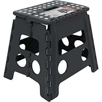 Large Folding Step Stool Fold Up Away Heavy Duty Plastic 39cm Tall