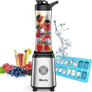 Personal Blender, Sboly Smoothie Blender Single Serve Small Blender for Juice Shakes and..