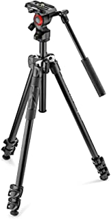 Manfrotto Befree Lightweight Durable Manfrotto 290 Light Aluminium Tripod with Befree Live Fluid Video Head, Black (MK290L...