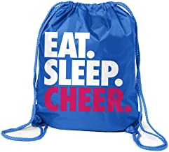 ChalkTalkSPORTS Cheerleading Sport Pack Cinch Sack | Eat Sleep Cheer | Royal