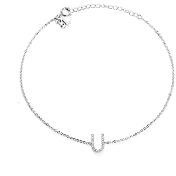 Blinglane Your Initial A Fashion Anklet Jewelry for Women