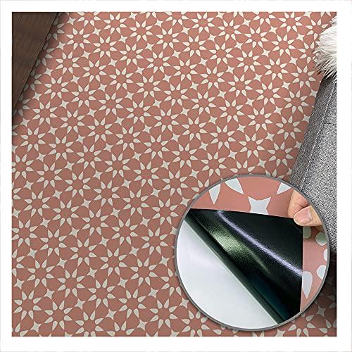 Geometry 4 Autoadhesivo Adhesivo para baldosas de suelo, resistente al aceite a prueba de aceite, zócalo de fácil limpieza utilizado para el suelo de la sala de estar de 3 m de largo。