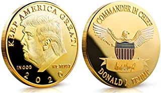 Trump 2020 Gold Coin Keep America Great Commander in Chief Republican Donald MAGA
