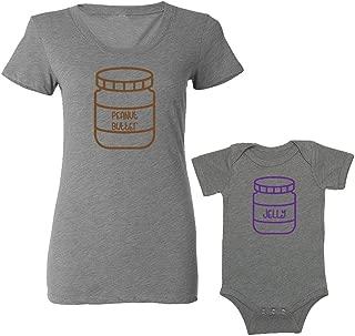 We Match! - Peanut Butter/Jelly - Matching Women's Triblend T-Shirt & Baby Bodysuit Set