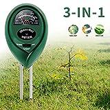 ZOTO Bodentester, Boden Feuchtigkeit Meter, 3 in 1 Boden-pH-Messgerät für...
