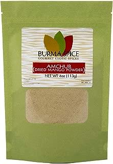 Amchur : Dried Unripe Green Mango Powder : Natural Sour Fruity Spice, Ground : Kosher (4oz.)