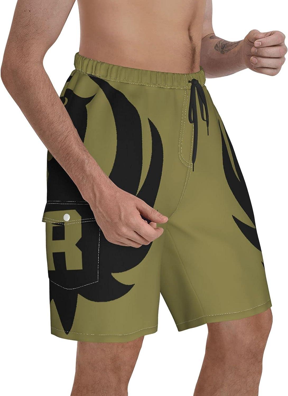 Zarachielly Ru-Ger Beach Shorts Swim Shorts Summer Mens Swim Shorts Board Shorts Quick Dry Shorts Sports Shorts