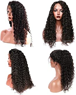 Suerkeep Water Wave Wigs Virgin Brazilian Lace Front Wigs Unprocessed 13×4 Water Wave Human Hair Wigs with Pre Plucked (26inch, Natural Color)