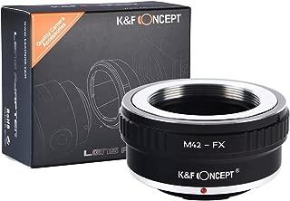 K&F Concept Lens Mount Adapter Ring M42 42mm Screw to Fuji Fujifilm FX XPro1 X-Pro1 Camera