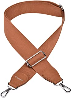 Shoulder Bag Strap Replacement Adjustable Canvas Strap 2 Inch Wide with Metal Swivel Hooks Purse Strap Replacement Bag Strap Belt Canvas 35 to 52 Inch Crossbody Strap for Handbags (Gold)