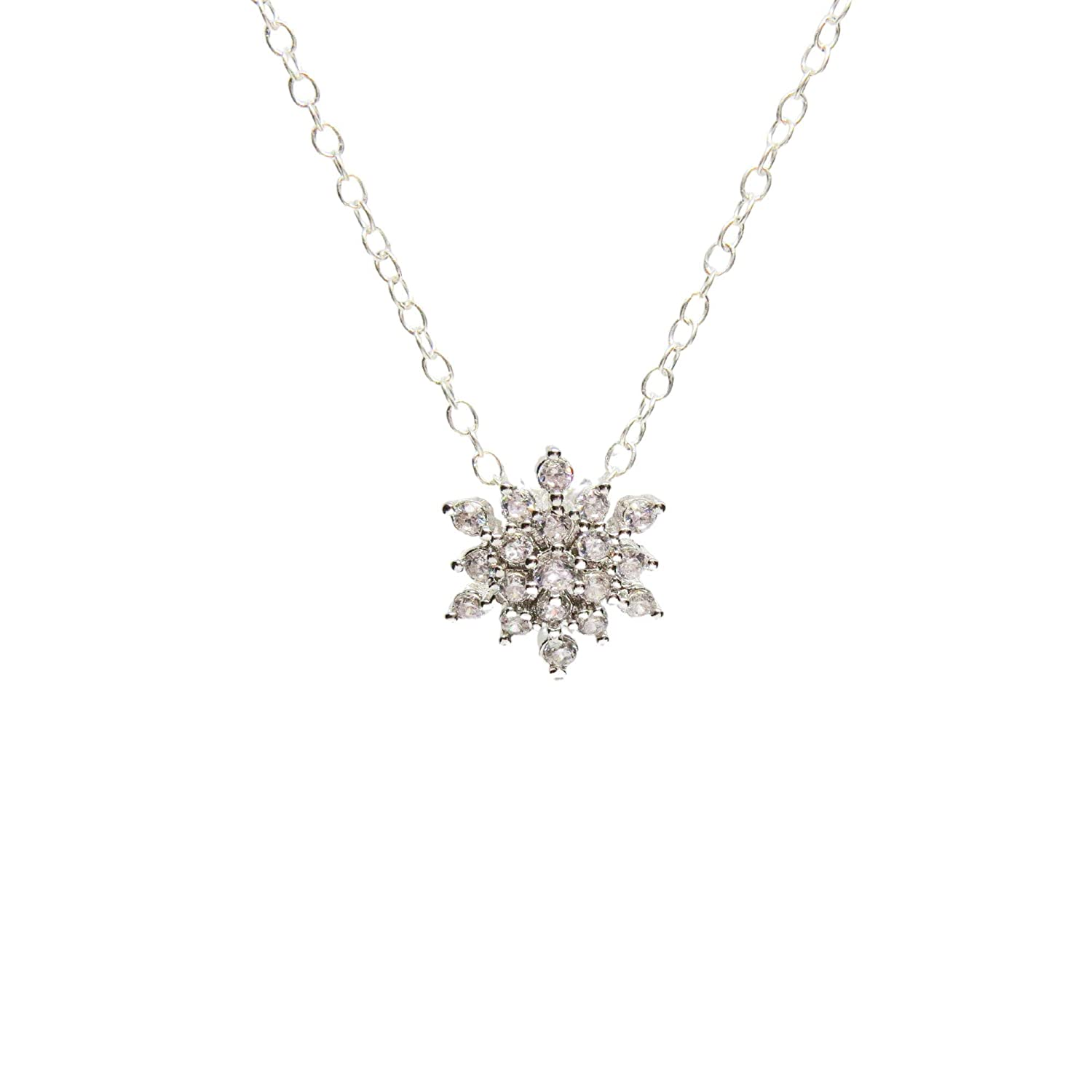 Snowflake Necklace Sterling Super sale period limited f Silver Gifts Pendant