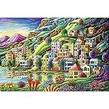 GYZ Puzzles, Rompecabezas de Madera, Ciudad de ensueño, 1000, Adultos, niños Mayores de 12 años. Bricolaje