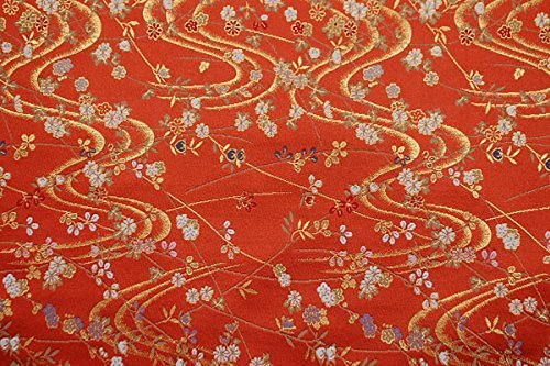 Hiromi House Japan Riz doré à Trois Rangs Rouille et coulant Couleur Bouleau 35 cm x 50 cm