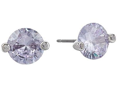 Kate Spade New York Brilliant Statements Duo Prong Studs Earrings (Light Amethyst) Earring