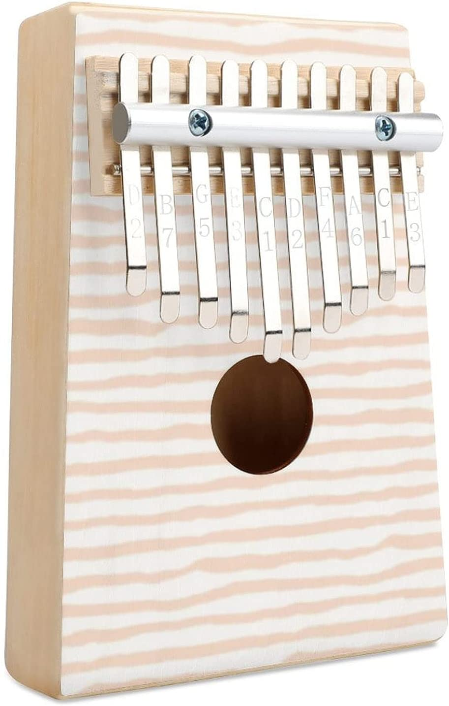 Light Peach San Antonio Mall Stripes She Fierce Kalimba Thumb Key 10 Ranking TOP16 Finger Piano