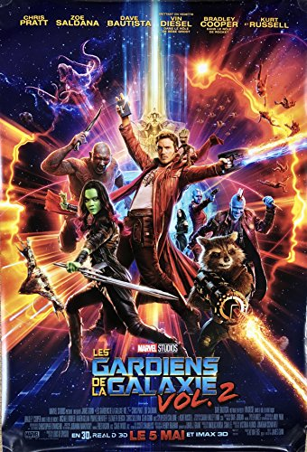 GUARDIANS OF THE GALAXY VOL. 2 (2017) Original Authentic Movie Poster 27x40 - Dbl-Sided - FRENCH VERSION - SET OF 2 - Chris Pratt - Zoe Saldana - Dave Bautista - Bradley Cooper