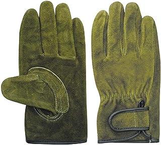ユニワールド 牛床内綿マジック手袋 オリーブ Lサイズ KS-867